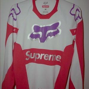 Supreme Fox Racing Moto Jersey Top Red